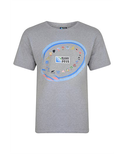 Tričko Canterbury RWC 2015 | 20 Nations Event Graphic Grey