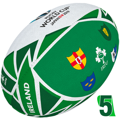 RWC 2019 OFFICIAL FLAG BALL |  Ireland | Velikost 5