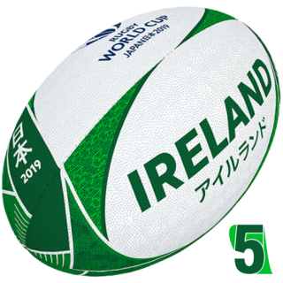 RWC 2019 OFFICIAL SUPPORTER BALL |  Ireland | Velikost 5