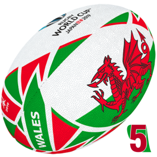 RWC 2019 OFFICIAL FLAG BALL | Wales | Velikost 5