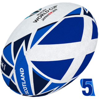 RWC 2019 OFFICIAL FLAG BALL | Scotland | Velikost 5