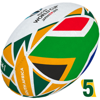 RWC 2019 OFFICIAL FLAG BALL |  South Africa | Velikost 5